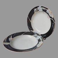 Mikasa Charisma Black 2 Rimmed Soup Bowls
