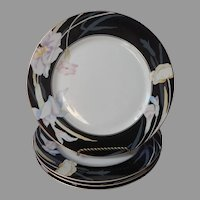 Mikasa Charisma Black 4 Dinner Plates