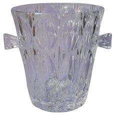 Heavy Crystal Ice Bucket Vintage Cut Glass