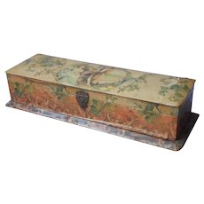 Antique Celluloid Covered Glove Box Pink Lined Very As Is TLC Needed