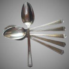 Anniversary 1923 6 Teaspoons Vintage Silver Plated