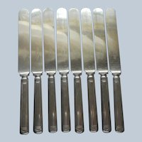 Anniversary 1923 8 Dinner Knives Vintage Silver Plated