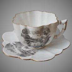 Thousand Islands St. Lawrence River Antique Souvenir Teacup Cup Saucer 1884