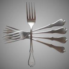 American Freedom Oneida Stainless Steel 5 Dinner Forks Wm. A. Rogers Premier