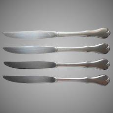 American Freedom Oneida Stainless Steel 4 Dinner Knives Wm. A. Rogers Premier