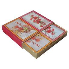 Congress Playing Cards 2 Decks Slip Case Hot Pink Orange Vintage ca 1970