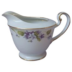 Noritake Nancy Creamer Vintage Violets Fine China Purple Gold