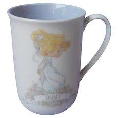 Aunt Precious Moments Mug Vintage 1990 Lavender Blue Lining