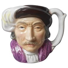 Toby Mug Unmarked Small Gent In Plumed Hat Purple Coat