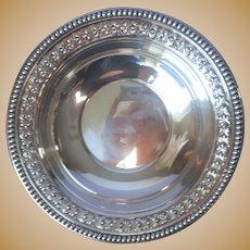 Fruit Bowl Silver Plated Vintage Wallace 4137