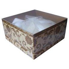 1990s Beverly Clark Wedding Ring Bearer Pillow White Moire Taffeta In Original Box