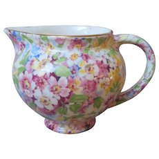 Apple Blossom Chintz James Kent Creamer Vintage English Longton