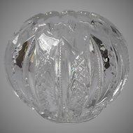 EAPG Rose Bowl Antique Pressed Glass Zipper Pattern Variant