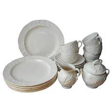 Minton Salt Glaze Breakfast Set Vintage China 20 Pieces 18th Century Historical Reproduction