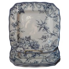 Adelaide Blue 4 Square Dinner Plates 222 Fifth