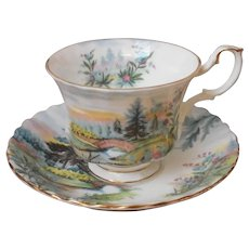 Royal Albert Dovedale Cup Saucer Vintage Country Scenes Series English Bone China