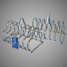 Pair English Silver Plated Toast Rack Racks Vintage Eales