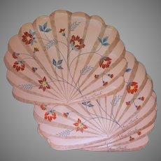 Gloria Vanderbilt Placemats Vinyl Vintage 1980s 4 Peach Blue Henna