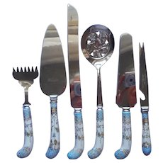 Porcelain Handles English Stainless Steel Dessert Server Cranberry Cake Cheese Knife Pastry
