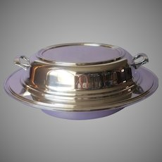 1920s Silver On Copper 3 Piece Convertible Serving Dish Very Vintage