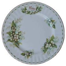 Royal Albert May Lily Of The Valley Tea Plate Vintage English Bone China