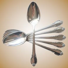 Remembrance 1948 6 Table Spoons Vintage Silver Plated
