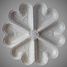Shortbread Mold Hearts Metropolitan Museum Of Art Vintage 1980s Cream Ware