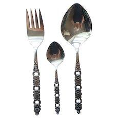Voila Viola Stainless Steel Serving Spoon Fork Sugar or Jelly Spoon Vintage Oneida Community