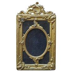 Antique Cast Metal Frame Velvet Small Ornate Germany