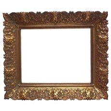 Ornate Picture Photo Frame Stamped Metal Vintage Victorian Revival