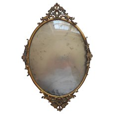 Convex Glass Antique All Metal Frame One Decoration Needs Solder