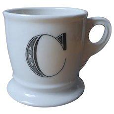 Monogram C Mug Retired Anthropologie Shaving Style Shape Initial