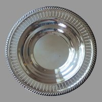 Lunt Bowl Silver Plated Vintage Pierced Rim Large Shallow Think Holidays