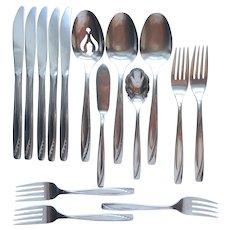 Lawncrest Stainless Steel Serving Spoons Dinner Knives Salad Dinner Forks Butter Knife Sugar Spoon