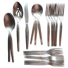 Futura Stainless Steel International Vintage Flatware Dinner Knife Forks Salad Soup Serving Spoons
