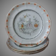 The Piper Adams Calyx Ware 4 Dinner Plates Vintage