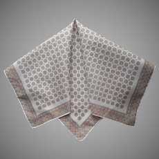 Italian Men's Handkerchief Large Pocket Square Vintage Foulard Print Cotton