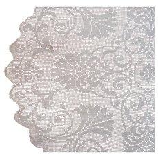 Filet Crocheted Large Centerpiece Doily Round Tablecloth Antique ca 1920