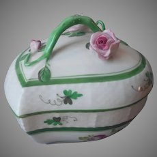 Herend Vienna Rose Trinket Box Vintage 6003 VRH Porcelain