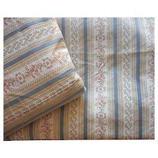 Brocade Curtains Pair Vintage European Lined 95 x 73 Each Wallpaper Stripe