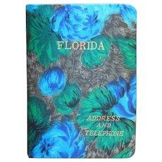 1960s Florida Address and Telephone Book Vintage Japan Snowbird