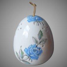 Pomander Ball China Blue Roses Vintage Japan Porcelain Sachet Potpourri