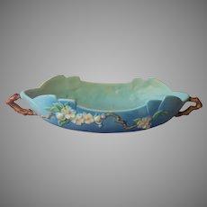 Roseville Apple Blossom Blue 333 14 Long Console Bowl Vintage