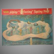 Regency Alpine Reflecting Skating Pond Set Vintage Christmas