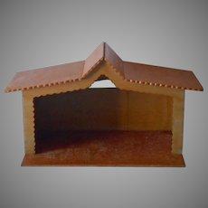 Large Manger Vintage Wood Christmas For Nativity Creche