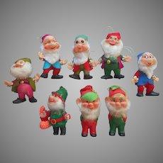 Vintage Dwarfs Dwarves Vintage Soft Plastic Flocked 5 Disney And Miscellaneous