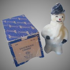 Christmas Candle Vintage Snowman Emkay Original Box Muench Kreuzer
