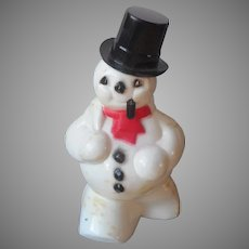 Rosbro Candy Container Vintage Hard Plastic Walking Snowman Pipe Christmas