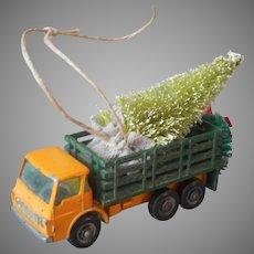 Christmas Tree Ornament Matchbox Stake Truck Brings Home Christmas Tree Vintage Die Cast