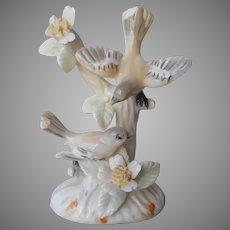 Oriole Birds Figurine Small Porcelain Japan
